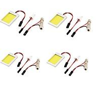 T10 Carro Caminhões e Reboques Motocicleta Branco Frio 12W COB 6000-6500 Luz de Leitura Luz de Matricula Foco