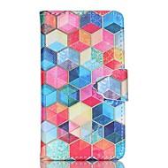 Varten Samsung Galaxy kotelo Korttikotelo / Lomapkko / Tuella / Flip Etui Kokonaan peittävä Etui Geometrinen printti Tekonahka SamsungS6