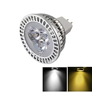 YouOKLight® MR16 3W Dimmable 3-LED Spotlight Warm White/Cold White Light 3000/6000k 300lm (DC 12V)