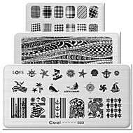 prostokątne elementy gorącej płytki drukarskiej manicure manicure skarbowej narzędzie 1-24
