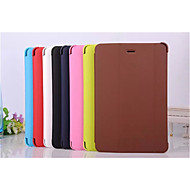For Samsung Galaxy Case with Stand / Auto Sleep/Wake / Flip / Magnetic Case Full Body Case Solid Color PU Leather SamsungTab 4 8.0 / Tab