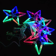 Christmas LED Lights Decoration RGB Color Hollow Star String Lights, with AC220V Voltage Input 2.5 Meter a Set