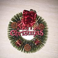 Zdobienia - Czerwony - Plastik - (Święta Bożego Narodzenia)