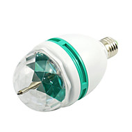 1PCS Auto 3W E27 Crystal Rotating RGB LED Stage Projector Light Bulb Colourful For Disco Party Light