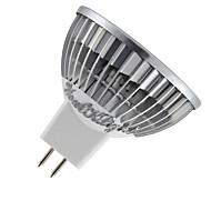 3W GU5.3(MR16) Faretti LED MR16 3 LED ad alta intesità 300 lm Bianco caldo / Luce fredda Intensità regolabile / Decorativo DC 12 V 1 pezzo