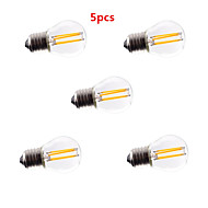 5pcs HRY® G45 4W E27 400LM 360 Degree Warm/Cool White Color Edison Filament Light LED Filament Lamp (AC85-265V)