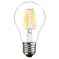 A60 6W E27 600LM 360 Degree Warm/Cool White Color Edison Filament Light LED Filament Lamp (AC85-265V)