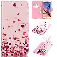 Για Samsung Galaxy Θήκη Πορτοφόλι / Θήκη καρτών / με βάση στήριξης / Ανοιγόμενη tok Πλήρης κάλυψη tok Καρδιά Συνθετικό δέρμα SamsungS6