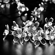 Solar 7M 50LED Fancy Plastic Flower String Lights Waterproof Lights