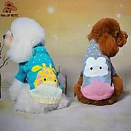 고양이 / 개 스웨터 그린 / 블루 / 그레이 강아지 의류 겨울 / 모든계절/가을 만화 귀여운 / 캐쥬얼/데일리