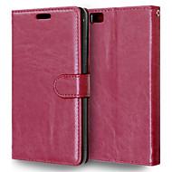 Πλήρης Σώμα πορτοφόλι / Βάση Καρτών / με Stand Culori solide Συνθετικό δέρμα Σκληρό Case Cover για το HuaweiHuawei P8 / Huawei P8 Lite /