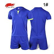 남성의 축구 셔츠 + 반바지 의류 세트/수트 통기성 여름 가을 클래식 패션 100% 폴리에스터 축구 스카이 블루