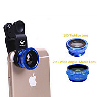 Old shark Universal 3-in-1 Clip-on 180' Fish Eye + Wide-Angle + Macro Lens Kit for IPHONE & More