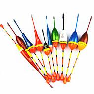 ¡venta caliente! 10pcs peces diferentes boya verticales flota pesquera establecer flotador flotadores de pesca herramientas señuelo