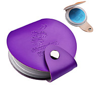 1pcs 24slots Leather Nail Art Stamping Plate Case Nail Stamp Template Folder Album Storage