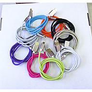 metall flätade linje samsung micro usb djärva drag motstånd ledningar snabbladdning linje 9 färg 1m universella USB-kablar