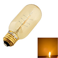 YouOKLight® E27 40W Warm White Light Incandescent Tungsten Edison Filament Bulb -Fireworks Cylindrical(AC 220-240V)
