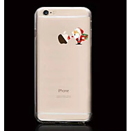 Santa Claus Pattern TPU Soft Phone Case for iPhone 6 Plus/6S Plus