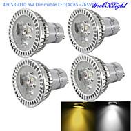 Focos Regulable / Decorativa YouOKLight G50 GU10 3 W 3 LED de Alta Potencia 300 LM Blanco Cálido / Blanco Fresco AC 85-265 V 4 piezas