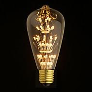 1 pcs Belf E26/E27 2 W 47PCS Dip LED 160Lm LM Warm White ST64 Decorative Globe Bulbs AC 220-240 V