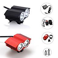 Eclairage de Vélo / bicyclette LED 3 Mode 2400 Lumens Etanche / Rechargeable / Tête crénelée / Tactique / Urgence Cree XM-L2 18650