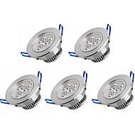 3W Upotetut valaisimet 3 Teho-LED 350 lm Lämmin valkoinen / Kylmä valkoinen AC 100-240 V 5 kpl