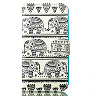 olifant patroon kaart staan lederen tas voor Samsung Galaxy j1 / j5