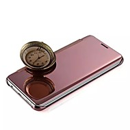 Para Funda iPhone 5 Cromado / Espejo / Flip Funda Cuerpo Entero Funda Un Color Dura Metal iPhone 7 Plus / iPhone 7 / iPhone SE/5s/5