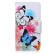 Two Butterflies Painted PU Phone Case for Galaxy Grand Prime/Core Prime/J5/J7/J1