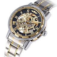 Men's Watch Mechanical Golden Skeleton Stainless Steel