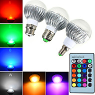 1 kpl E14 / GU10 / E26 / E27 / B22 5 W 1 suurteho LED 540 lm RGB himmennettävä / kauko-ohjattava Globe sipulit AC 85-265 V