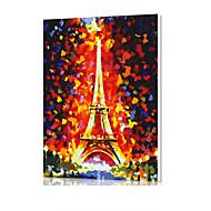 diy digitaal olieverfschilderij kader familie plezier schilderij helemaal zelf de Eiffeltoren x5041