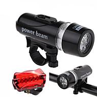 Luci bici , kit luce frontale luce + coda - 5 Modo 200LM Lumens Facile da trasportare AAA x 2 BatteriaCampeggio/Escursionismo/Speleologia