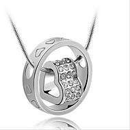 Damskie Dla par Naszyjniki z wisiorkami Srebro standardowe Modny Silver Biżuteria Na Codzienny Casual 1szt