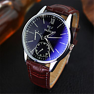 YAZOLE® Luxury Brand Fashion Faux Leather Blue Ray Glass Men Watch 2015 Quartz Analog Business Wrist Watches Men montre homme Cool Watch Unique Watch
