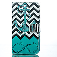 Anchor Painted PU Phone Case for Galaxy Grand Prime/Core Prime/J5/J7/J1
