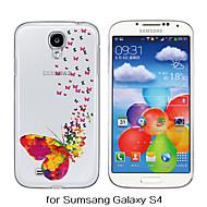 Na Samsung Galaxy Etui Przezroczyste / Wzór Kılıf Etui na tył Kılıf Motyl TPU Samsung S6 / S5 / S4