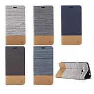 Για Samsung Galaxy Θήκη Θήκη καρτών / με βάση στήριξης / Ανοιγόμενη tok Πλήρης κάλυψη tok Μονόχρωμη Συνθετικό δέρμα SamsungGrand Prime /