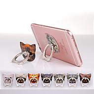 kočičí hlavy designu ring kovové nálepka stojan pro Samsung a iPhone (náhodné barvy)