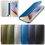 For Samsung Galaxy etui Etuier Auto Sluk Spejl Flip Heldækkende Etui Helfarve PC for Samsung S6 edge plus S6 edge S6