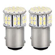 2 * bil 1016 1157 BAY15d svans bromsparkeringsstopp lampa lampa 3528smd vit 50 LED-ljus 12v