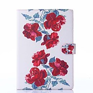 Red Peony Pattern PU Leather Full Body Case with Stand for iPad Air/iPad 5