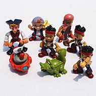 8pcs / set anime cartoon Jake ei pirati neverland pvc action figure giocattoli bambole