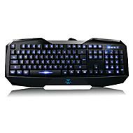 Aula Befire Illuminated Keyboard USB 3-Colors LED Backlit Light Up Multi-media Games Gaming Keyboard