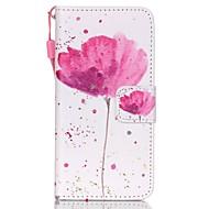 de nye valmuer lanyard PU skinn materiale flip card mobiltelefon for ipod touch 5/6