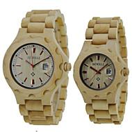 Men's Women's Unisex Wrist watch Wood Watch Quartz Japanese Quartz Wood Band Vintage Luxury Beige