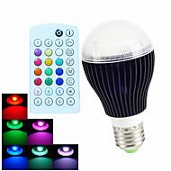 1 pcs SchöneColors E26/E27 /GU10 /B22 9W RGB A60 Dimmable/Remote-Controlled/Music-Controlled LED Globe Bulb AC110-240V