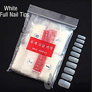 500PCS  White Full Nail Tips