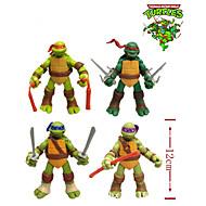 nuovi 4 pc / set 12 centimetri tmnt teenage mutant ninja turtles figura di azione del anime modello in pvc giocattoli classici per la