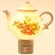 kreatives Design Teekanne-förmigen Keramik-Lampe Nachtlicht Nachttischlampe Duft
